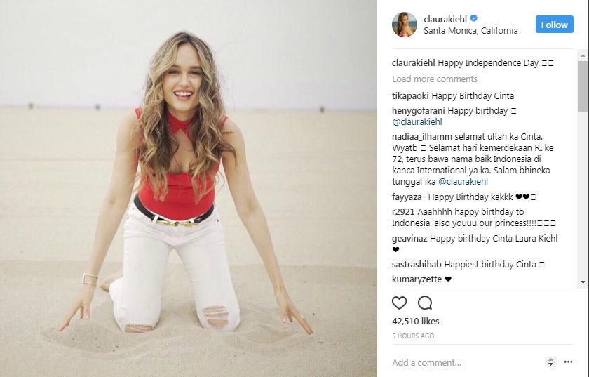 Cinta Laura dan Hari Kemerdekaan Indonesia